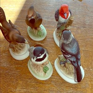🍭LEFTON LOT OF 5 HAND PAINTED BIRDS